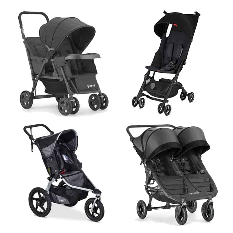 four strollers