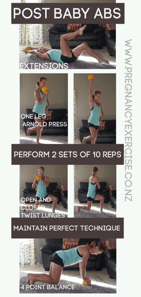 6 Postnatal Core Exercises that you can do to improve core, strength, muscle tone and function. Make sure you repin and save this one!